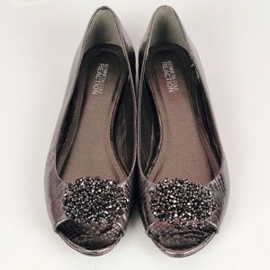 Kenneth Cole Reaction Jeweled Embellished Flats